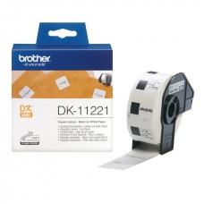 Brother Lipni juostelė DK-11221 (Baltos) 23x23mm