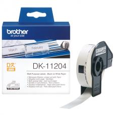 Brother Lipni juostelė DK-11204 (Baltos) 17x54 mm