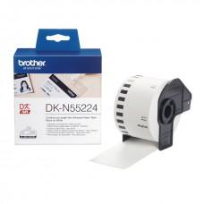 Brother Lipni juostelė DK-N55224 54mm. (Balta nelipni)