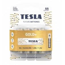 Baterijos Gold+ Tesla AA, 4 vnt.