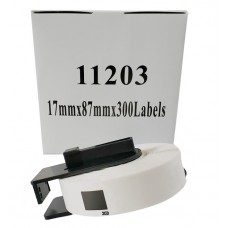 Brother Lipni juostelė DK-11203 (Baltos) 17x87 mm ECO