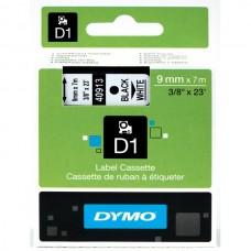 DYMO Lipni juostelė D1 40913, 9mm. (Balta / Juoda) OEM