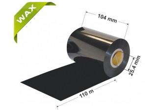 Dažanti juosta (Karboninė juosta) 104mm x 110m Wax