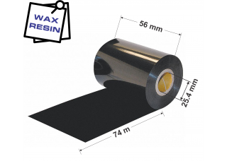 Dažanti juosta (Karboninė juosta) 56mm x 74m Wax / Resin