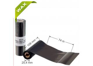 Dažanti juosta (Karboninė juosta) 108mm x 74m Wax