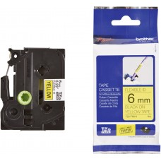 Brother Lipni juostelė TZE-FX611 6mm. (Geltona lanksti)