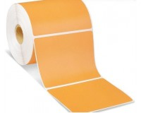 Lipnios etiketės 52x40mm. 1000 vnt (Vellum) Oranžinė
