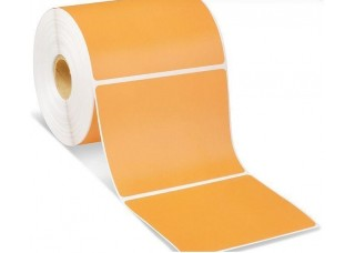 Lipnios etiketės 75x55mm. 1000 vnt (Vellum) Oranžinė