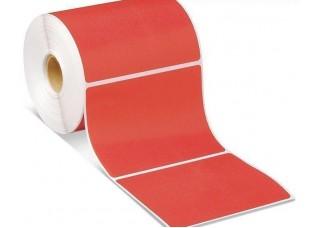 Lipnios etiketės 52x40mm. 1000 vnt (Vellum) Raudonos